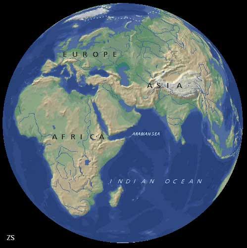 части Индийского океана.
